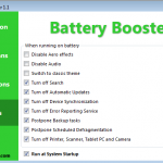 How to reduce laptop battery power consumption by using Battery Booster